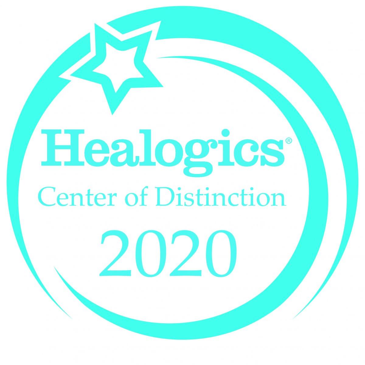 Insignia del premio Healogics 2020