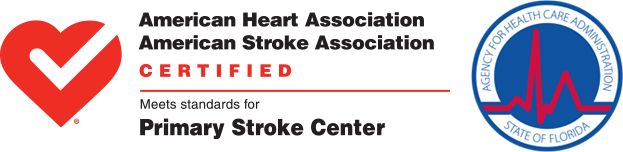 Primary Stroke Center y logotipos AHCA